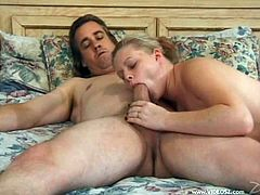 Have a look at this hardcore scene where the sexy blonde Kori Spencer sucks on this guy's hard cock before being fucked.