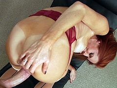 The gorgeous MILF Veronica Avluv gives an amazing blowjob POV and takes the guy's huge cock up her delicious little butthole.