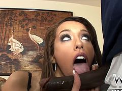 Chloe Star is a cute Latina chick with a fine tight body. She wasn´t ready for this massive big black cock though!