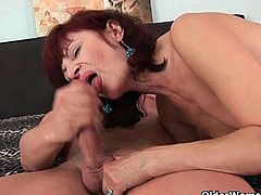 Wanda, Gail and Brandy are three horny grannies who meet younger guys with different occasions. They get fucked and eat their spunk after the guys can't hold it any longer.