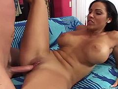 Veronica Rayne is a beautiful Latina with a gorgeous babe, huge natural tits and a perfect ass. Watch this mami being nailed by a big cock in this hardcore scene.