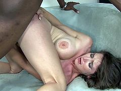 Take a look at this great interracial scene and check out Felony's amazing ass before her wet pussy is drilled by a big black cock.