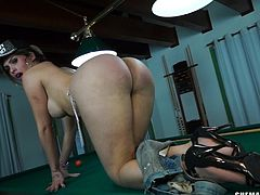 It's clear that she likes to play with balls but will Ts Katrina gonna get to play with some real balls? She's one hell of a naughty whore and that ass deserves a serious pounding and a few big loads of cum in it. Let's hang around with her and see if some guys are gonna give this whore what she deserve!