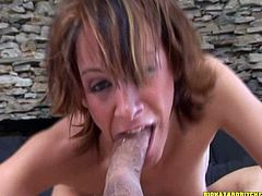 Make sure you take a look at this hot scene where the horny babe Sierra Sinn deep throats this guy's thick cock until her mouth's overflowing with warm cum.