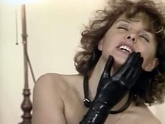 Horny mistress makes one horny guy lick her pussy 69 style