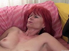 Red haired dumpy mommy gets her still tight kitty fucked from behind