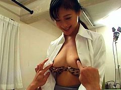 Slutty Asian nurse sucks big sweet cock of her patient