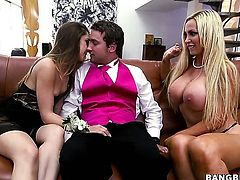 Nikki Benz with round ass gets unbelievable lesbian pleasure to Remy LaCroix in girl-on-girl action
