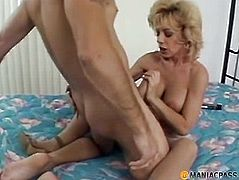 Aunt legs widen fucking with a stud
