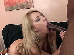 Beautiful blonde Ashley Winters gets her punani licked by BBC