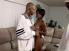 Jada Fire gets her black cunt fucked deep in cuckold sex clip