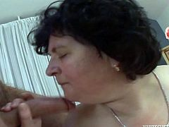 Horny obese woman gets fucked in sideways position