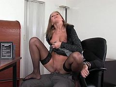Hot sex in the office with the horny Lauryn May