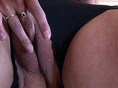 This old mature is wearing her fancy hat and she has her legs spread so she can plays with her pussy. She starts off by using her fingers, and then she moves on to using her sex toys. she shoves the vibrator deep into her vagina.