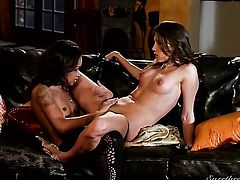 Celeste Star spends her sexual energy with lesbian Skin Diamond