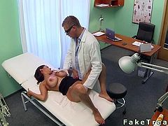 Doctor fucks huge tits patient