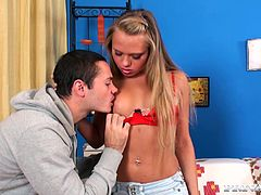 Take a look at this blonde teen's amazing body in this hardcore scene where she's eaten out by her man before being fucked silly while she dreams.