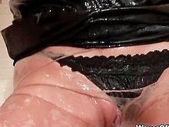 Cum loving drunk blonde gets covered part6