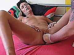 Extreme amateur wife takes a humungous deep fisting penetration in her sloppy fuck hole till she screams in orgasm