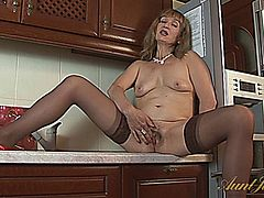mature, milf, strip, solo, masturbation,