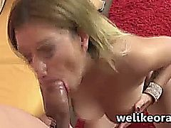 Pornstar Bibi Noel knows how to use her massive tits and her slutty mouth to make this guy cum
