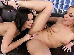 Blonde Eve Angel makes her sex dreams a come true with lesbian Salome