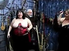 Two bbws pick their from of bondage and domination