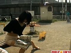 Public Sex Japan brings you a hell of a free porn video where you can see how this alluring Asian slut masturbates and poses outdoors for your personal enjoyment.