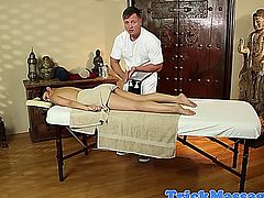 Cindy Starfall looking awesome and naked at her massage