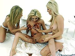 Chocolate covered enema dykes lesbo fun and finger and rim
