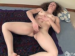 nina hairy masturbate in bed with panties