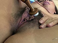 Luna Lene Playing with her Big Open and Loose pussy.