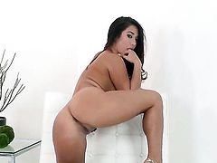 Eva Lovia does her best to make your cock harder in solo scene