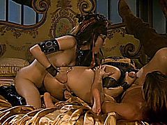 sasha grey and belladonna have some rough sex with captain evan stone on a ship