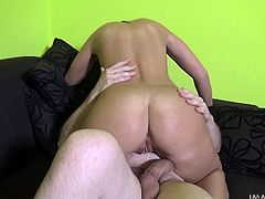 Denise is a horny babe and she seems to give her best to please her partner. If you wanna get convinced, there's one way to find out what dirty things she enjoys doing in bedroom. The hot lady has nice tits and a wonderful ass. See it bouncing up and down while riding cock. Don't forget to squirt!