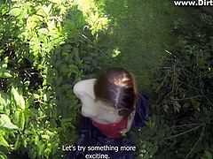 When you have a girl like her you want to try all kind of sex. For example public sex, like this guys. They went in the woods for wild sex. She looks very hot with that cock in her mouth filmed in pov mode. Just imagine being in his place! Then he telling her to come on top in reverse cowgirl position to fuck him. Her moves are incredible!