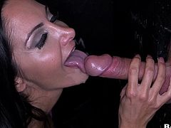 Brunette With Long Hair Riding A Massive Dick Doggystyle