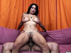 Busty and big bottomed whore Sophia Lomeli rides hard dong reverse and face to face