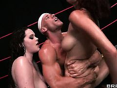 With huge jugs is in heaven fucking with hard dicked bang buddy Johnny Sins