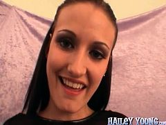 Hailey Young gets what she asked for. She loves to suck huge cock for a hardcore blowjob in POV session.