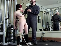 Yeah, this is the training that the busty punk whore Iona needs. She deserves a rough punishment and some discipline so Sgt. Major is about to make a private out of her! He tied her up, pinched her nipples with clothespins and now he fucks her big white butt. Let's see how else he disciplines her!