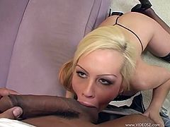 Appealing Blonde Gets Drilled Hardcore In An Interracial Sex