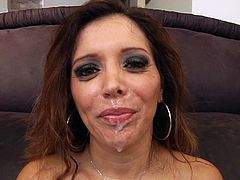 Marvelous milfs with natural tits gets a nasty facia