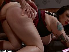 Burning Angel brings you a hell of a free porn video where you can see how this chubby tattooed brunette gets banged hard and deep into a breathtakingly intense orgasm.