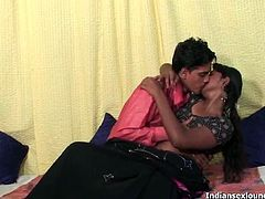 Indian Sex Lounge brings you a hell of a free porn video where you can see how this kinky Indian brunette and her man play together while assuming very hot poses.