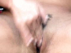 Taylor Vixen with big tits and shaved beaver does her best to turn you on in solo scene