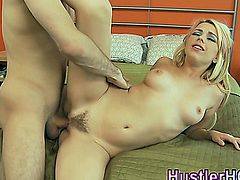 Lexi Belle gets landing strip cummed on after fucking hard