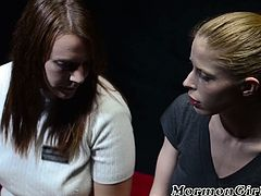 Pussy eating lesbians go shameless as they fuck on each other before the camera on red table. They even try on some huge toys for their pussy satisfaction.