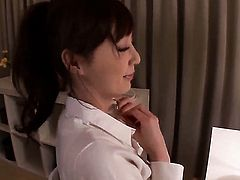 Amazing porn diva Kaede Fuyutsuki takes the money shot of her dreams