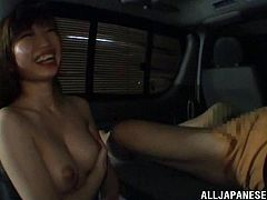 This is a hot Japanese blowjob scene in the car with a mature cock and a horny pussy with a hot cumshot load in the mouth.